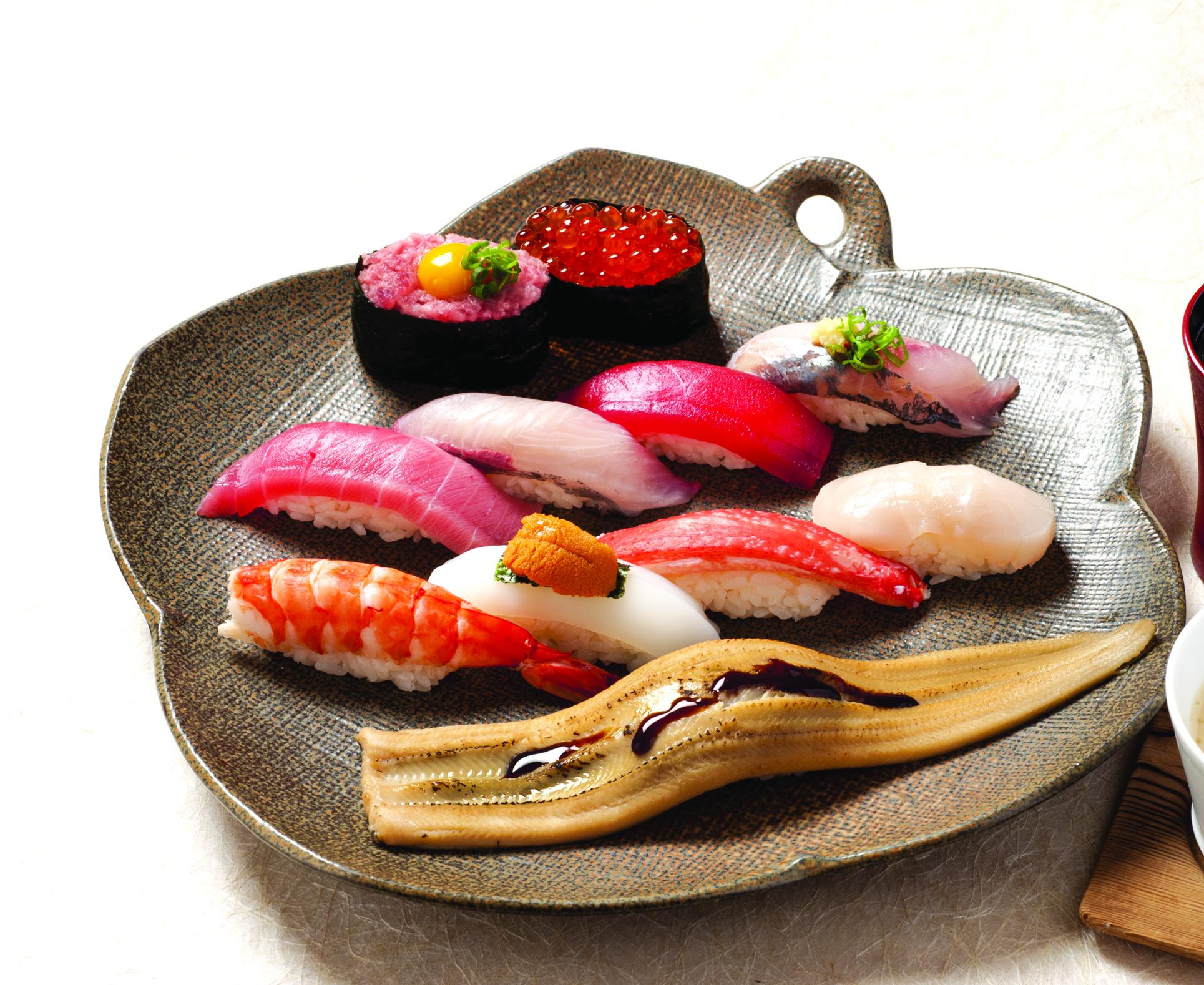 七福にぎり(お椀・茶碗蒸・サラダ付)