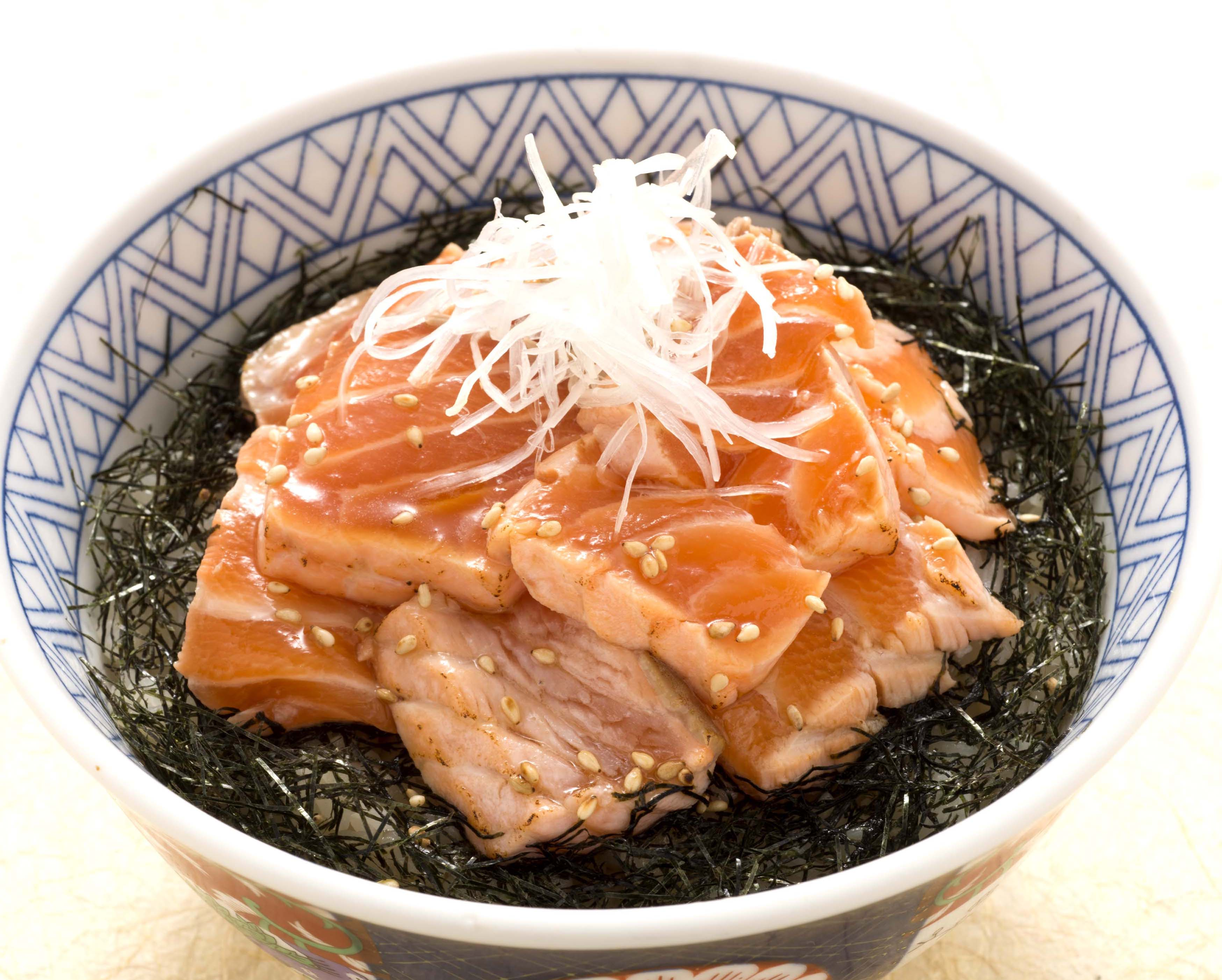 炙りづけサーモン丼