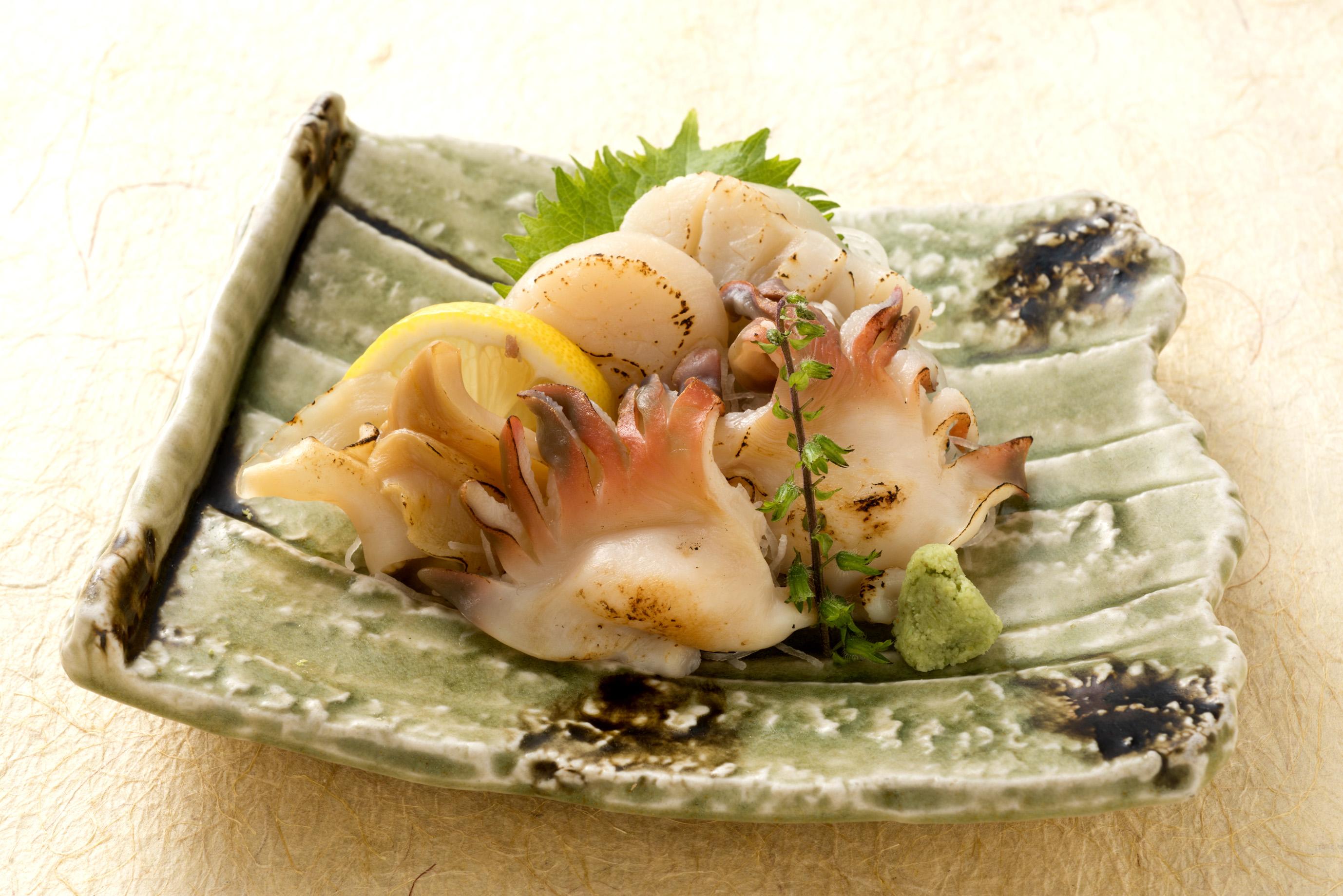 貝類の炙り