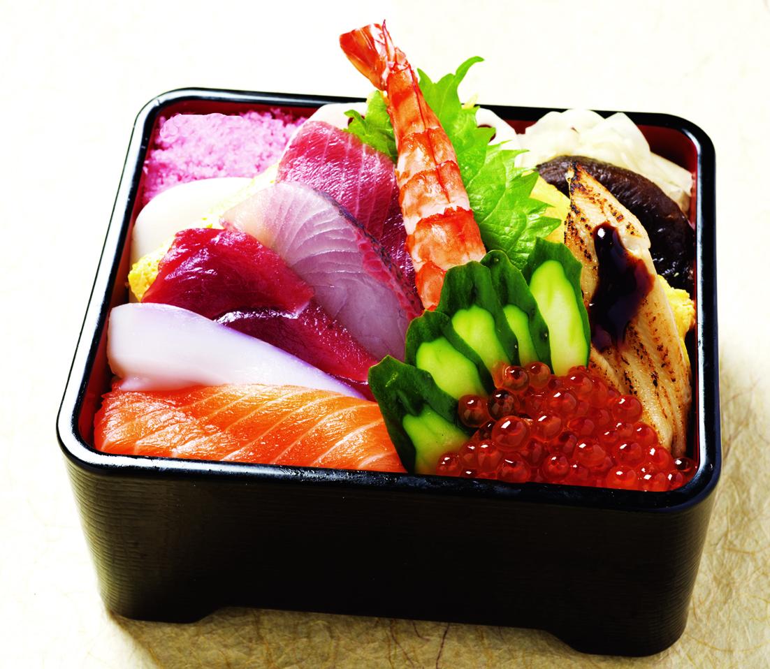 寿ちらし(お椀と茶碗蒸付)