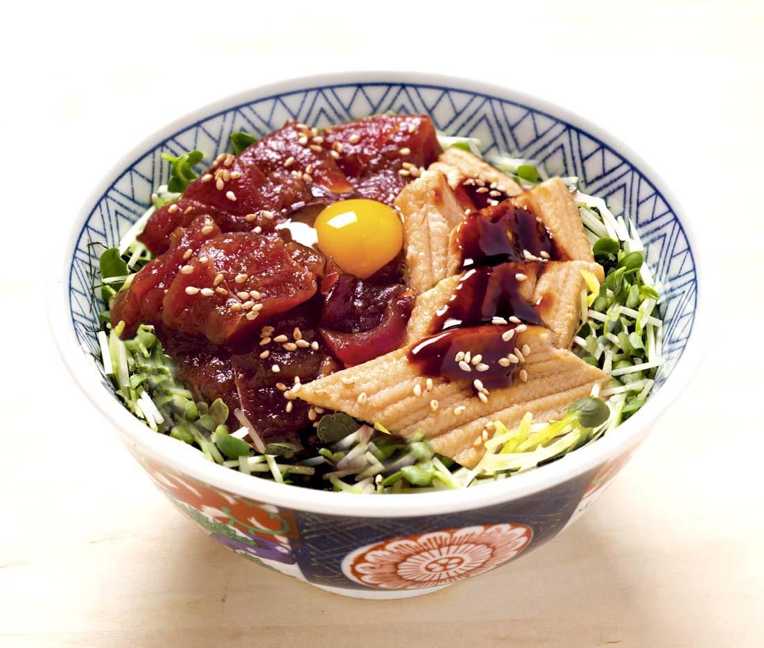 づけ鮪穴子丼(お椀と白玉付)