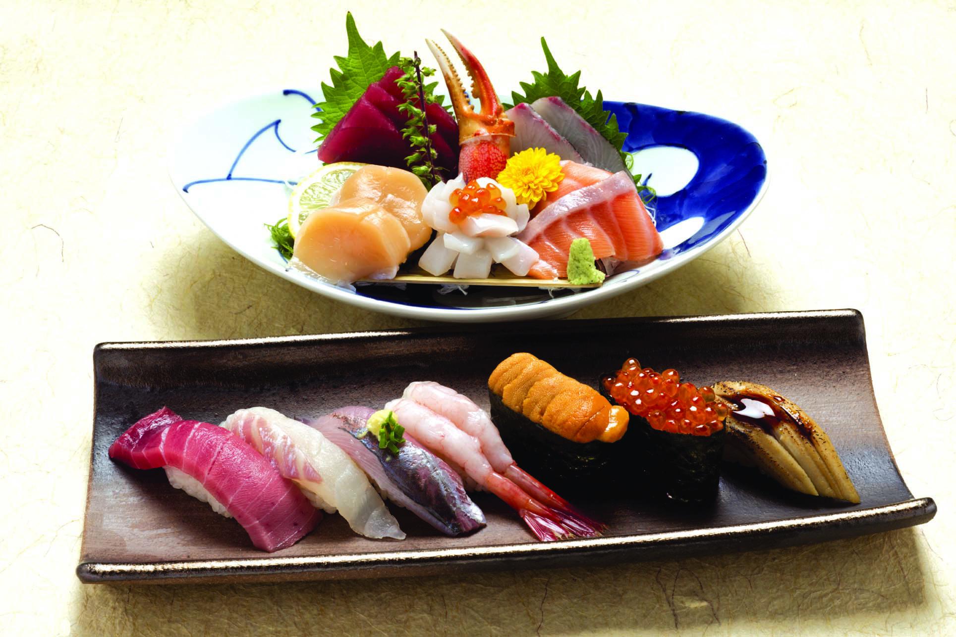 刺身と寿司御膳