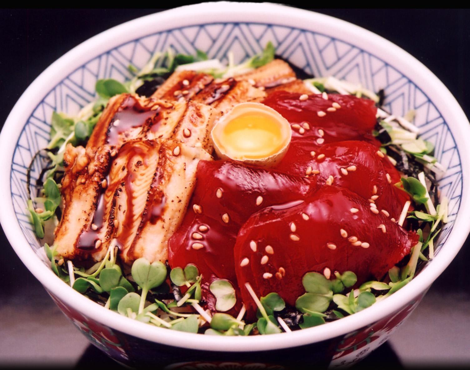 づけ穴子丼(お椀と白玉付)