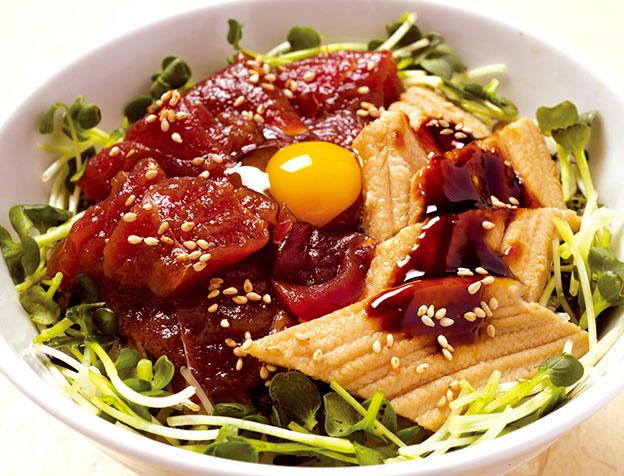 づけ鮪穴子丼(お椀・デザート付)
