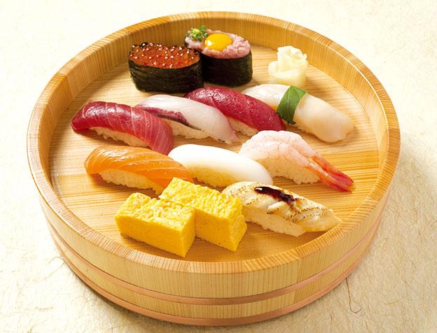 魚河岸にぎり(お椀・デザート付)