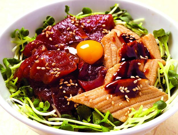 づけ鮪と穴子丼(日替わりお椀付)