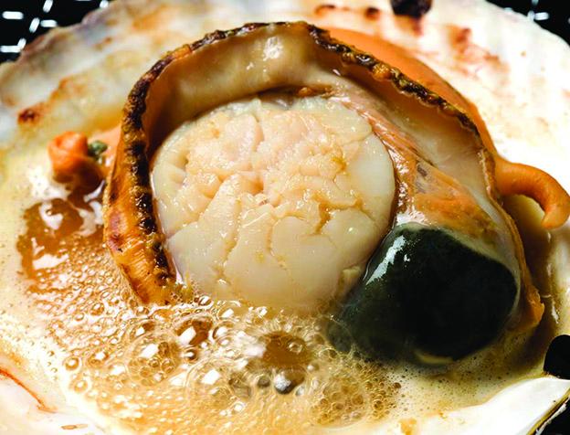 帆立貝のバター焼き