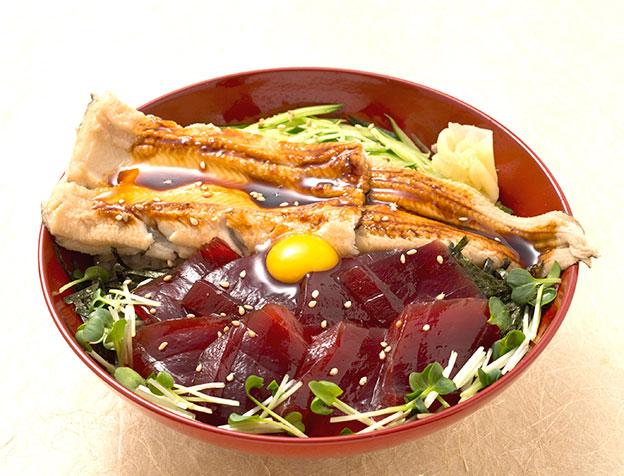 づけ鮪穴子丼(お椀・茶碗蒸付)